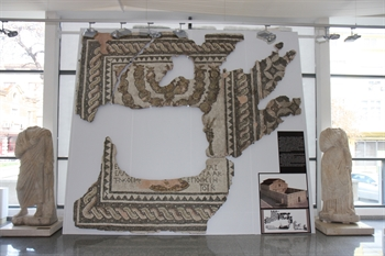 A FRAGMENT OF MOSAIC OF A SYNAGOGUE - THE FIRST AND ONLY ATTESTED ANCIENT SYNAGOGUE IN BULGARIAN LANDS