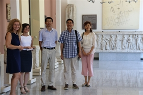A delegation from China visited the Museum